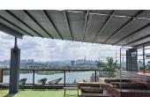 카페  쉼터  여닫이  지붕